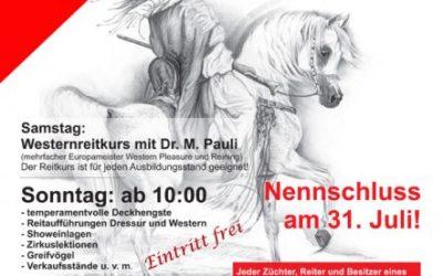 ABGESAGT!                            Tag des Vollblutarabers in Bayern